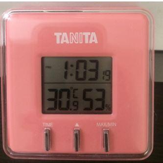 室温と湿度の表示