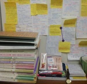 受験時代の机の様子